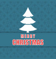 christmas pattern background and tree vector image vector image