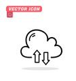 cloud sync icon white background ima vector image vector image