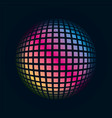 colored grids spherical 3d background pattern vector image vector image