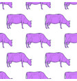 cow vintage engraved seamless pattern vector image vector image
