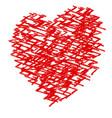 crayon valentine13 vector image