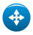 cursor displacement element icon blue vector image vector image