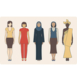 Different nationalities women vector image vector image
