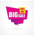 Discount 50 percent off - advertising vector image