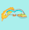 dragon arched bridge in taiwan hand drawn icon vector image vector image