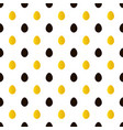 easter black and gold eggs seamless pattern vector image