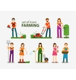 Farming and gardening horticulture set of icons vector image
