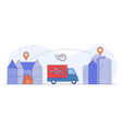 fast delivery truck from store to home vector image