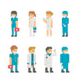 flat design medical staffs and doctors vector image vector image
