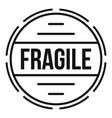 fragile logo simple style vector image