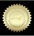 Gold star label North Carolina vector image vector image