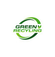 green recycling design logo symbol vector image