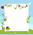 greeting card with ladybug greeting card with vector image