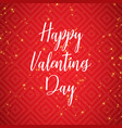 hand drawn happy valentines day text vector image
