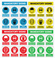 Health and safety sign collection vector image