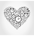 Hours heart vector image vector image