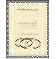 Invitation to the Huppah Beige invitation to a vector image vector image