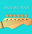 jingle bell rock christmas background vector image vector image