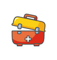 kit first aid medical protection safety fill vector image