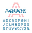 Linear font alphabet with latin letters vector image vector image