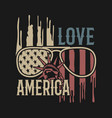 love america so much american flag design vector image vector image