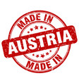 made in austria red grunge round stamp vector image vector image