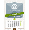 March 2016 Wall Monthly Calendar for 2016 Year vector image