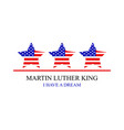 martin luther king vector image vector image