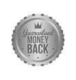 money back guarantee metal silver sign label vector image
