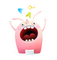 monster mascot shouting screaming mouth wide open vector image vector image