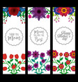 mothers day vertical banners decoration flowers vector image vector image