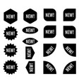 new sticker set black promotion labels modern vector image