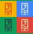 pop art line buying drugs online on mobile phone vector image vector image