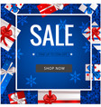 sale take up to 55 off white square box gift blue vector image vector image