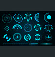 sci fi futuristic user interface vector image