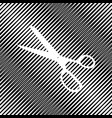 scissors sign icon hole in vector image vector image