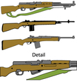 semi automatic rifles vector image