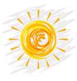 shinny doodle sun hand drawn cartoon vector image