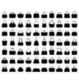 silhouettes handbags vector image