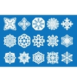 snowflake icon set - vector image vector image