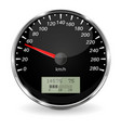 speedometer black 3d vehicle gauge vector image vector image
