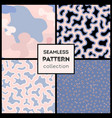 stylish abstract seamless patterns collection vector image vector image