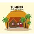 summer adventure landscape icon vector image