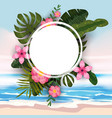 summer tropical trendy background template of vector image vector image