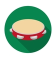 Tambourine icon in flat style isolated on white vector image
