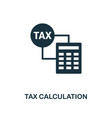 tax calculation icon line style icon design from vector image vector image