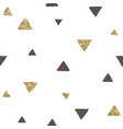 trendy black and gold triangles seamless pattern vector image vector image