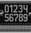 ugly sweater christmas numbers figures knitted vector image