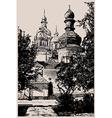 ukrainian church engraving vector image vector image