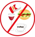 unhealthy food and drink vector image